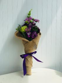 Burlap Wrapped Fresh Floral