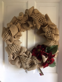 Burlap Wreath Silk Arrangement