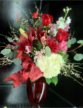 Burnin Love  Vase Arrangement