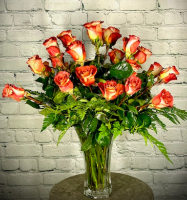 Burning Love Vase Arrangement