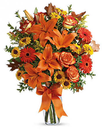 Burst of Autumn Fall vase arrangement