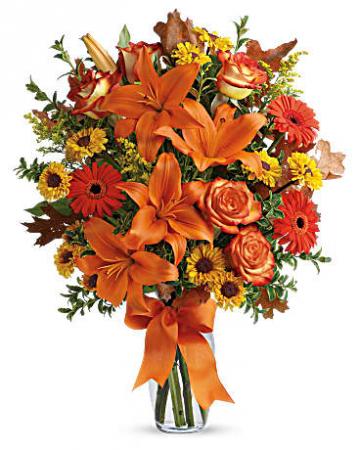 Burst of Autumn Fall vase arrangement