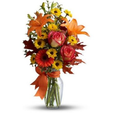 Burst of Autumn  Flower Arrangement (TFL02-2A)