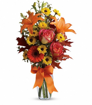 Burst of Autumn Vase Arrangement