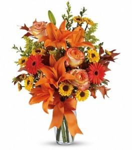 Burst of Autumn Vase Arrangement