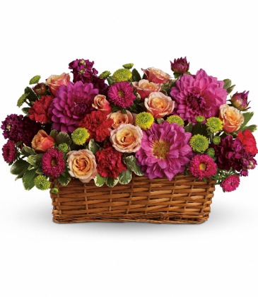 Burst of Beauty Basket Fresh Arrangement