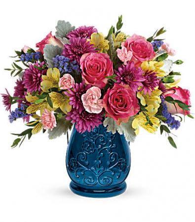 Burst of Blue Bouquet