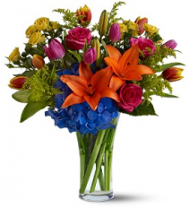 Burst of Color floral arrangement