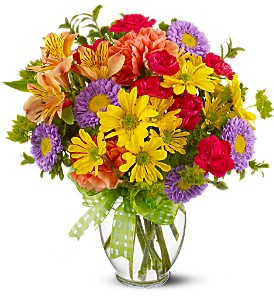 BURST OF COLOR Vase Arrangement