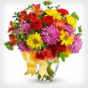 Burst of color Vase Arrangement in Lebanon, NH | LEBANON GARDEN OF EDEN FLORAL SHOP