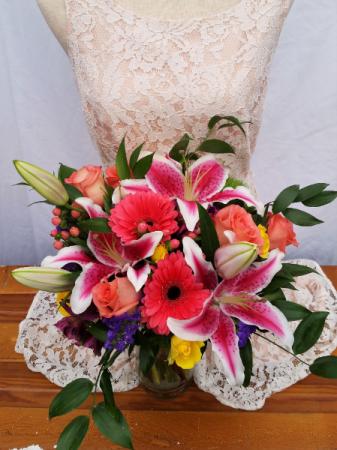 Burst of Color Wedding Bouquet