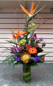 Burst of Colour Vase Arrangement