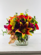 Burst of Fall  Container Arrangement