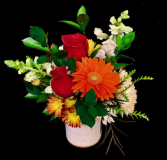 Get Well Soon Pottery Design with Red Roses in Plainview, Texas | Kan Del's Floral, Candles & Gifts