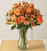 Burst of Orange Vase Arrangement
