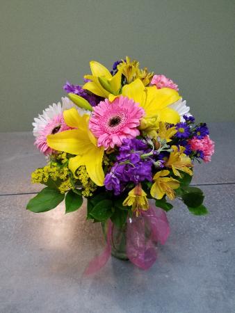 Burst of Spring Vase Arrangement