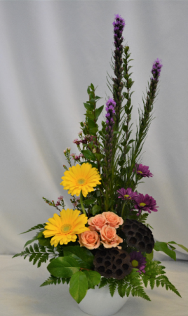 BURST OF STYLE FRESH FLOWER ARRANGEMENT - see description