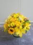 Burst of Sunshine Glass Cylinder Arrangement