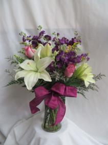 Bursting Blooms Fresh Mixed Vased Arrangement
