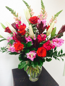 Bursting Love Vase Arrangement