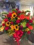 Bursting with color  Funeral basket