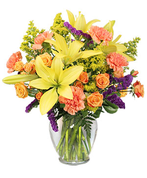 Bursting With Glee! Arrangement in Tulsa, OK | THE WILD ORCHID FLORIST