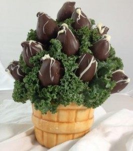 Bushel Basket of Chocolate Strawberries Please give us 24 hr notice  in Springfield, IL | FLOWERS BY MARY LOU INC