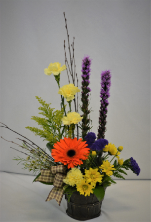BUSHEL FULL OF SUMMER FRESH FLOWER ARRANGEMENT