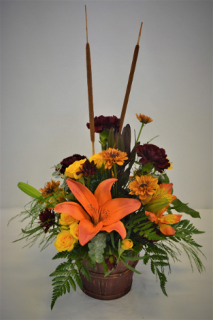 BUSHEL OF FALL FRESH FLOWER ARRANGEMENT