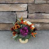 Bushel of Thanks Fall Flower Arrangement