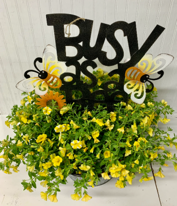 Busy as a Bee Metal Planter