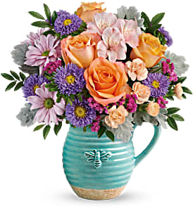 BUSY BEE PITCHER BOUQUET SPRING