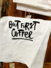 But First Coffee towel
