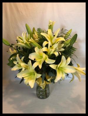 Buttercream Lilies Bouquet  in Bryan, TX | NAN'S BLOSSOM SHOP