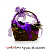*SOLD OUT* Butterflies & Violets Floral Basket