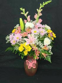 Butterfly Accents Arrangement FHF-MD22 Fresh Flower Arrangement (Local Delivery Only)