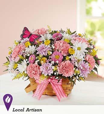butterfly basket Basket bouquet