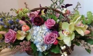 Butterfly Basket oblong basket arrangement in Northport, NY | Hengstenberg's Florist