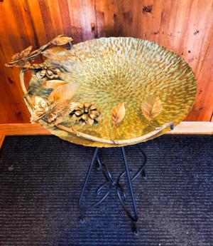 Butterfly Birdbath  in Fowlerville, MI | ALETA'S FLOWER SHOP