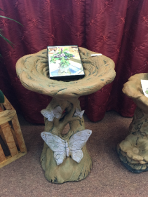 Butterfly BirdBath Garden Statue