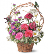 Butterfly Birthday Basket Fresh Arrangement