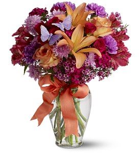 Butterfly Blooms  Vase Arrangement