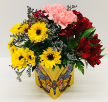 Butterfly Cube Floral Bouquet