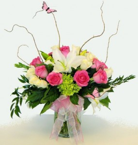 Butterfly Delight Vase Arrangement in Port Stanley, ON | FLOWERS BY ROSITA