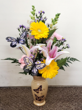 Butterfly Fun Arrangement Vase Arrangement