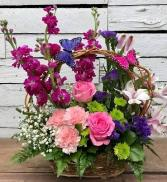 Butterfly Garden Basket Basket Arrangement