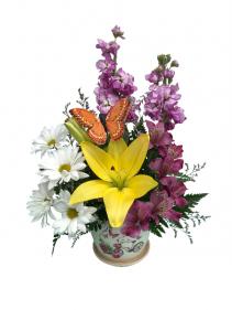 Butterfly Garden Mother's Day Arrangement