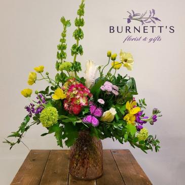 Butterfly Garden Vase Arrangement