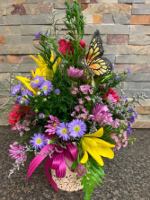 Butterfly Garden Vase Arrangement