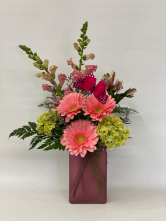 Butterfly Kiss Vase arrangement